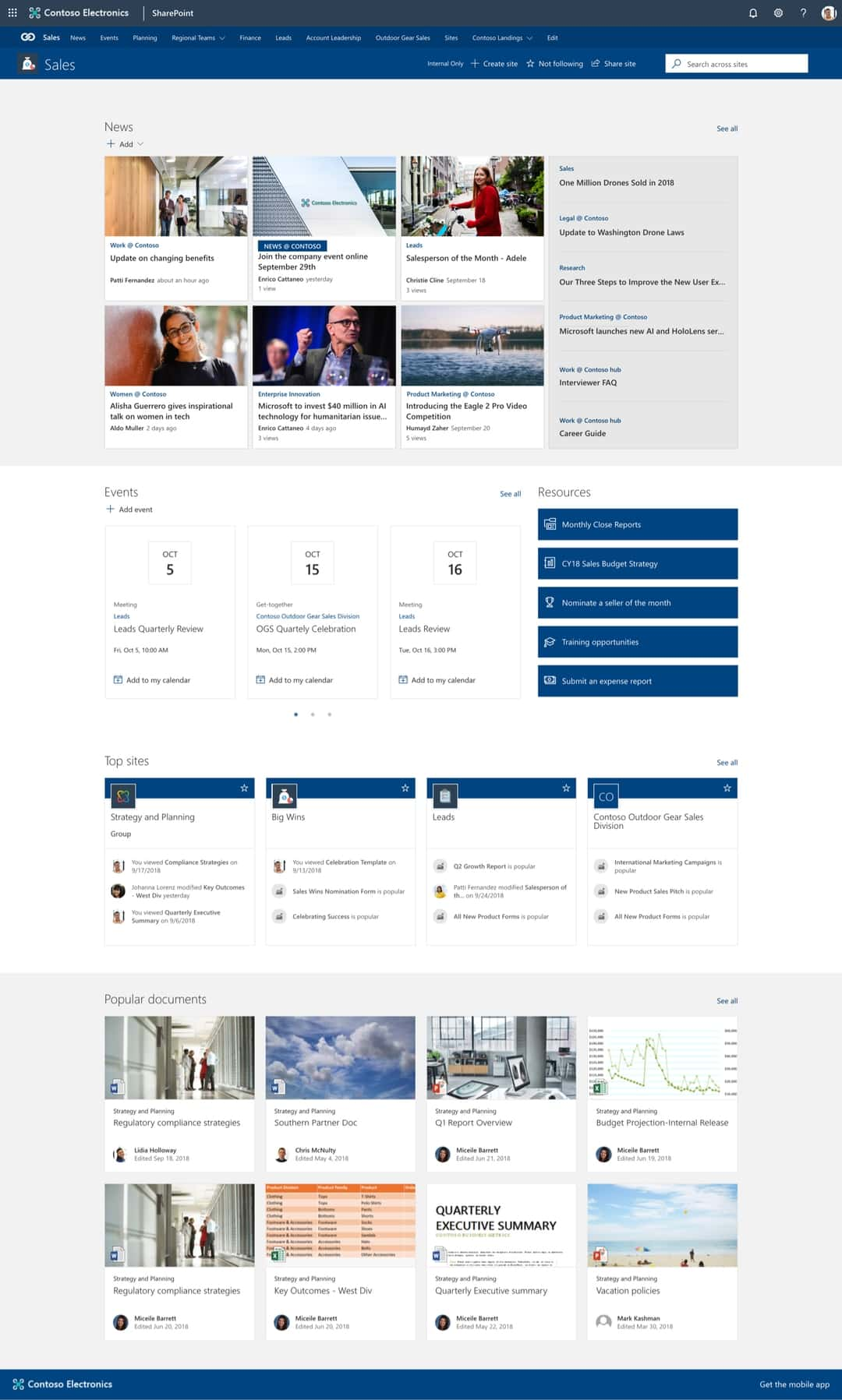 12 great examples of modern sharepoint intranet