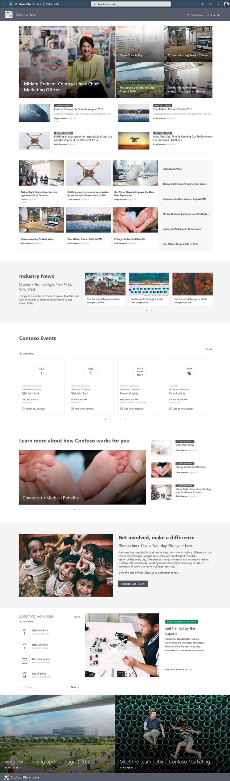 Seventeen Modern Sharepoint Templates For Office 365 Microsoft365 Atwork,Small House Minimalist Kitchen Design For Small Space